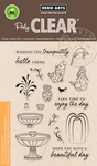 """Make A Fountain - Hero Arts Clear Stamps 4""""X6"""""""