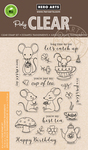 """Mouse Tea Party - Hero Arts Clear Stamps 4""""X6"""""""