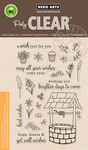 """Wishing Well - Hero Arts Clear Stamps 4""""X6"""""""