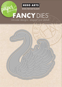 Paper Layering Swan With Frame - Hero Arts Frame Cut Dies
