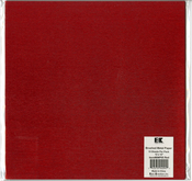 "Red - Best Creation Brushed Metal Single-Sided Paper 12""X12"""