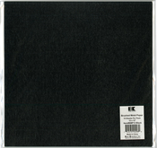 "Black - Best Creation Brushed Metal Single-Sided Paper 12""X12"""