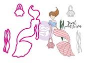 Julie Nutting Stamp & Dies - Cordelia Mermaid - Prima
