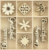 Beautiful Wooden Flourish Pack - KaiserCraft