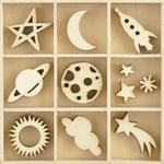Star & Moon Wooden Flourishes - KaiserCraft