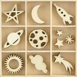 Star & Moon Wooden Flourishes - KaiserCraft - PRE ORDER