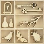 Curiosities Wooden Flourishes - KaiserCraft