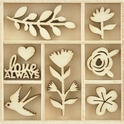 Blooming Wooden Flourishes - KaiserCraft