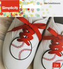 White Baseball 2.5 X2.5  - Wrights Shoe Wing Embellishment 2/Pkg The perfect way to dress up your shoes! This 4.25x4.5 inch package contains two show embellishments. Comes in a variety of designs. Each sold separately. Imported.