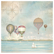 Sea Land Balloons - Stamperia Rice Paper Napkin