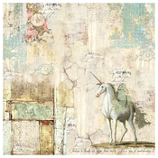 Wonderland Unicorn - Stamperia Rice Paper Napkin