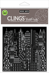 "Urban Skyline Bold Prints - Hero Arts Cling Stamps 6""X6"""