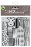 "Abstract Skyline Bold Prints - Hero Arts Cling Stamps 6""X6"""