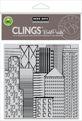 """Abstract Skyline Bold Prints - Hero Arts Cling Stamps 6""""X6"""""""