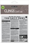 "Newspaper Bold Prints - Hero Arts Cling Stamps 6""X6"""