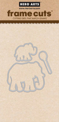 Color Layering Elephant - Hero Arts Frame Cut Dies