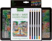 Assorted Colors 50/Pkg - Crayola Signature Blend & Shade Colored Pencils W/Tin