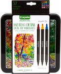 Crayola Signature Sketch & Detail Dual-Tip Markers W/Tin