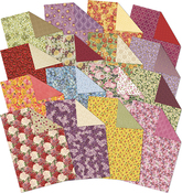 Birth Flowers, 16 Designs/3 Each - Hunkydory Double-Sided A4 Paper Pad 48/Pkg