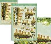 Spring Ducklings - Hunkydory Spring Days A4 Decoupage Set