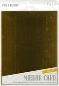 "Harvest Gold - Tonic Studios Mirror Glossy Cardstock 8.5""X11"" 5/Pkg"