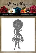 Lady W/Umbrella - Paper Rose Dies