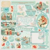Sea-Maiden Details Sticker Sheet - Authentique