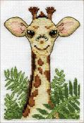 "Giraffe (18 Count) - Design Works Stitch & Mat Counted Cross Stitch Kit 3""X4.5"""