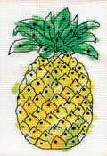 """Pineapple (18 Count) - Design Works Stitch & Mat Counted Cross Stitch Kit 3""""X4.5"""""""
