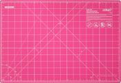 "Fairy Floss Pink - OLFA Splash Gridded Cutting Mat 12""X18"""