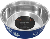 Navy - Pet Nautic Fusion Plastic/Stainless Steel Bowl 10oz