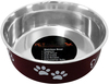 Merlot - Pet Nautic Fusion Plastic/Stainless Steel Bowl 10oz The stainless steel dog food bowl will not rust, crack or show scratches. The outside is cover with a plastic coating in a selection of colors to match your home decor. This package contains one 10oz dog bowl. Dishwasher safe. Comes in a variety of colors. Each sold separately. Imported.