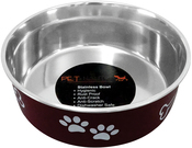 Merlot - Pet Nautic Fusion Plastic/Stainless Steel Bowl 10oz