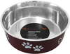 Merlot - Pet Nautic Fusion Plastic/Stainless Steel Bowl 16oz The stainless steel dog food bowl will not rust, crack or show scratches. The outside is cover with a plastic coating in a selection of colors to match your home decor. This package contains one 16oz dog bowl. Dishwasher safe. Comes in a variety of colors. Each sold separately. Imported.