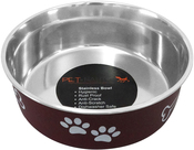 Merlot - Pet Nautic Fusion Plastic/Stainless Steel Bowl 16oz