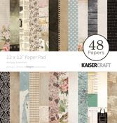 "Antique Essentials - Kaisercraft Paper Pad 12""X12"" 48/Pkg"