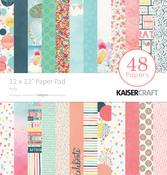 "Party - Kaisercraft Paper Pad 12""X12"" 48/Pkg"