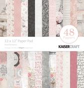 "Floral Romance - Kaisercraft Paper Pad 12""X12"" 48/Pkg"