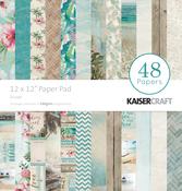 """Escape - Kaisercraft Paper Pad 12""""X12"""" 48/Pkg"""