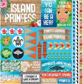 "Island Princess Elements Stickers 12""X12"""