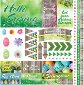 """Hello Spring Elements Stickers 12""""X12"""""""