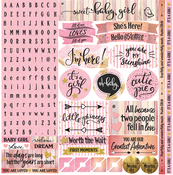 """Oh Baby Girl Alpha Stickers 12""""X12"""""""