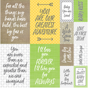 """Modern Baby Poster Stickers 12""""X12"""""""
