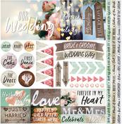 """Modern Wedding Elements Stickers 12""""X12"""""""