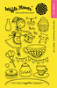 """Tea Party - Waffle Flower Crafts Clear Stamps 4""""X6"""""""