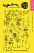 """Spring Time - Waffle Flower Crafts Clear Stamps 4""""X6"""""""