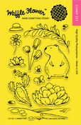 """Summer Time - Waffle Flower Crafts Clear Stamps 4""""X6"""""""