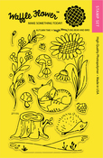 """Autumn Time - Waffle Flower Crafts Clear Stamps 4""""X6"""""""