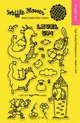 """Level Up - Waffle Flower Crafts Clear Stamps 4""""X6"""""""