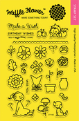 """Wish - Waffle Flower Crafts Clear Stamps 4""""X6"""""""
